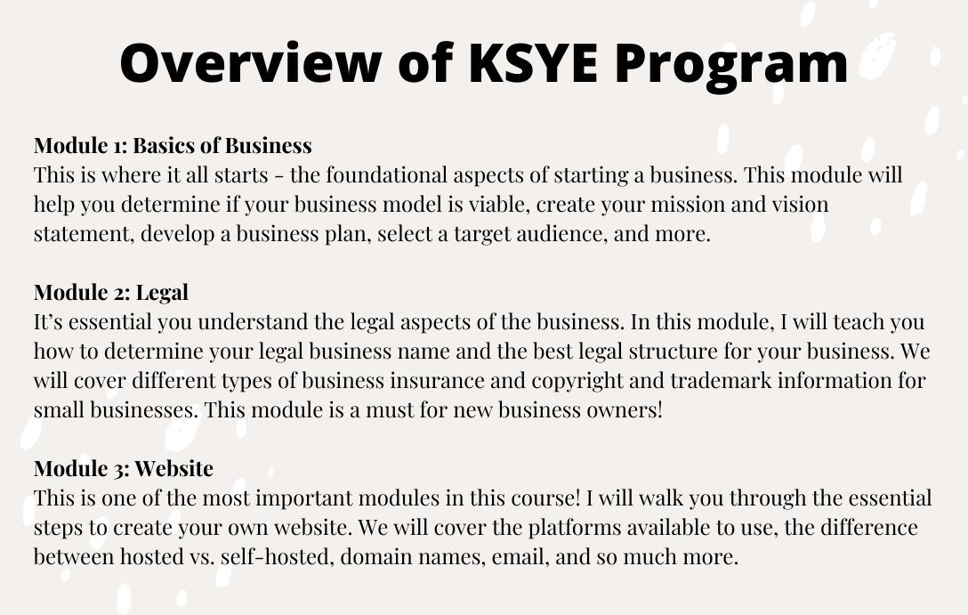 KSYE Program
